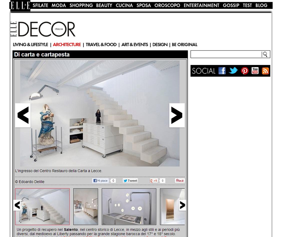 Centre for Paper Restoratation - Elle Decor Italia