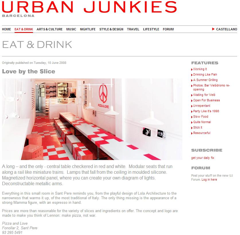 Pizza&Love - Urban Junkies Barcelona - Love by the Slice